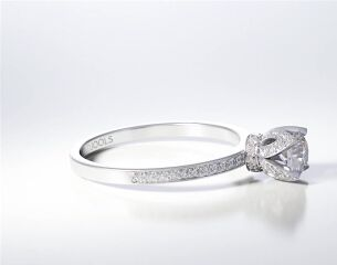 PAVE SOLITAIRE RING ENG067